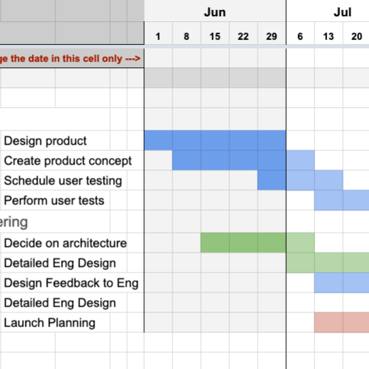 Spreadsheets for Calendar Views